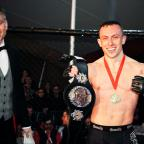 The Advertiser Series: Richard Buskin after winning the lightweight UFW champion belt