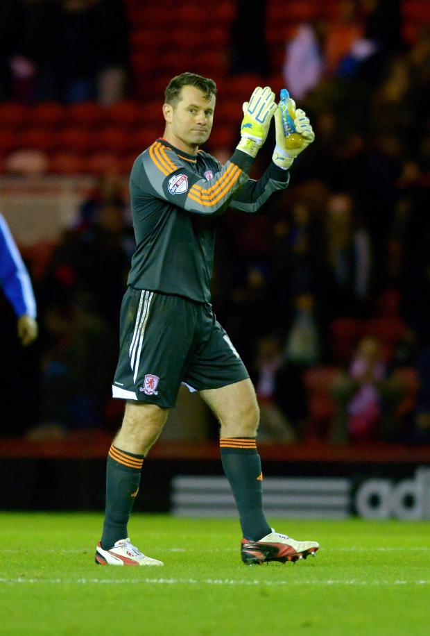 The Advertiser Series: Blackpool return: Shay Given is expected to be back between the posts for Middlesbrough this weekend