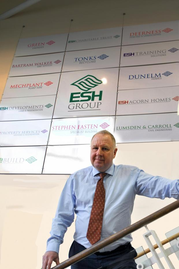 "The Advertiser Series: Brian Manning, chief executive of Esh Group: ""We are now really looking forward to 2014 and building upon the success of 2013."""