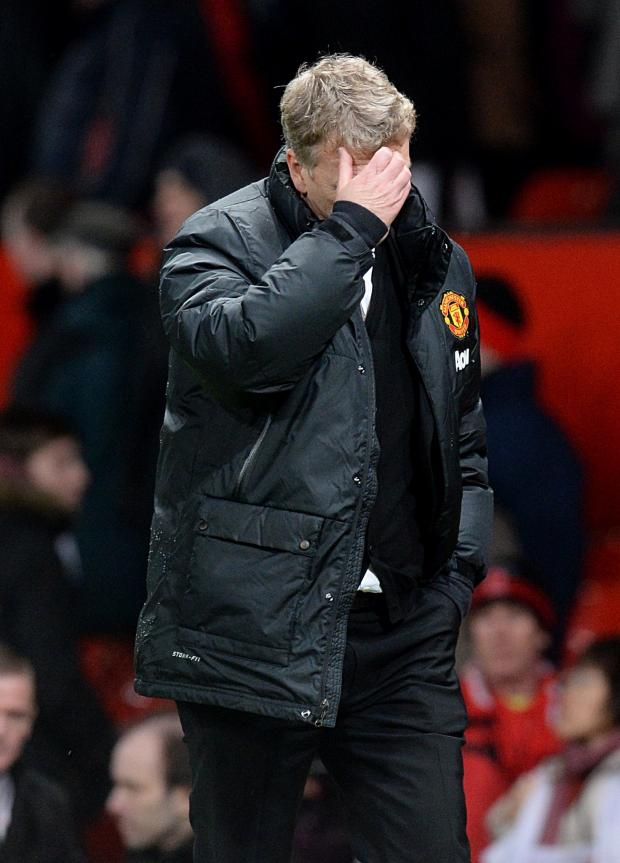 The Advertiser Series: ANOTHER BAD NIGHT: David Moyes was left dejected as Man United crashed out of the Capital One Cup at the hands of Sunderland