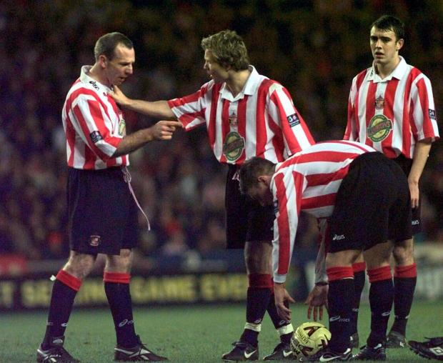 The Advertiser Series: CUP SEMI: Michael Gray on the pitch at the Stadium Of Light in Sunderland's defeat to Leicester in 1999