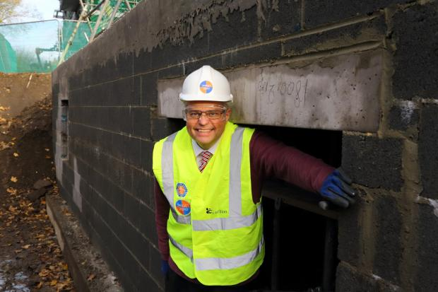 The Advertiser Series: : Project Manager Ian Beaumont in the 'Bat Hotel'