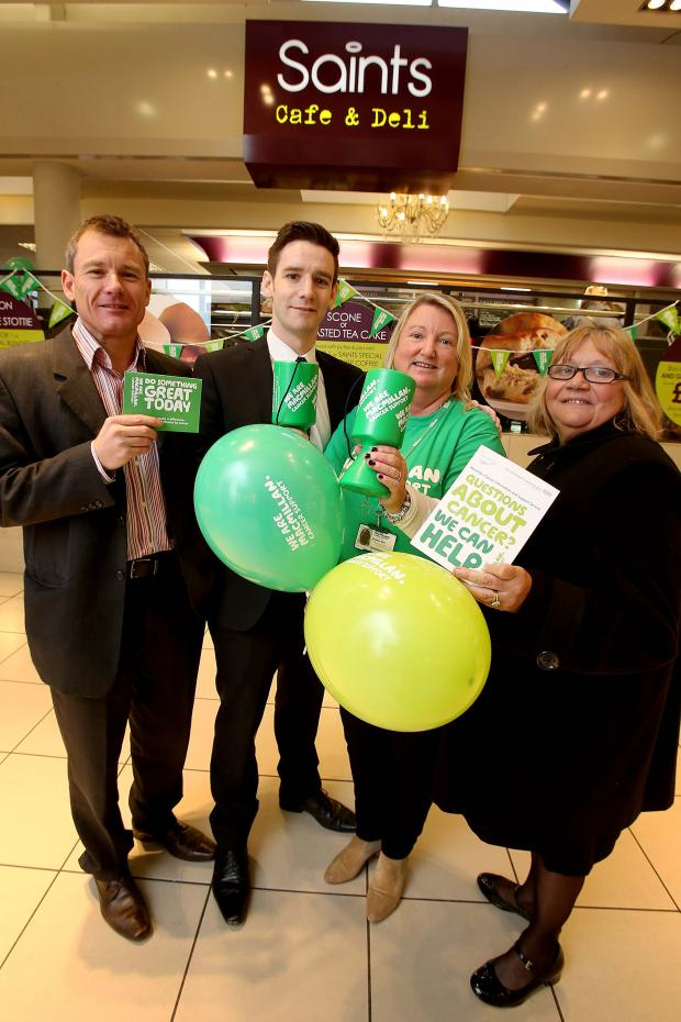 The Advertiser Series: CAMPAIGN LAUNCH: Fund raisers join shopping centre staff at today's campaign launch