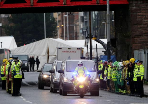 The Advertiser Series: Emergency services line the route as victims are taken form the Clutha pub crash