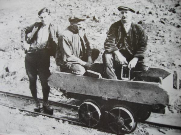 The Advertiser Series: Former lead miners at Coldberry lead mine, in County Durham. From left are Joe Gargett, Tom Allison and Joe Watson