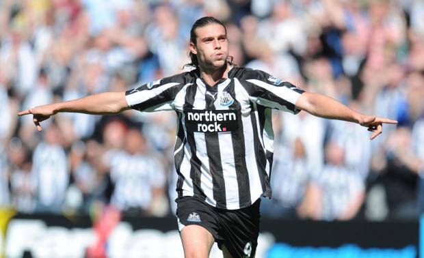 The Advertiser Series: HOMETOWN HERO: Carroll celebrates a goal during his days on Tyneside as Newcastle United's No. 9