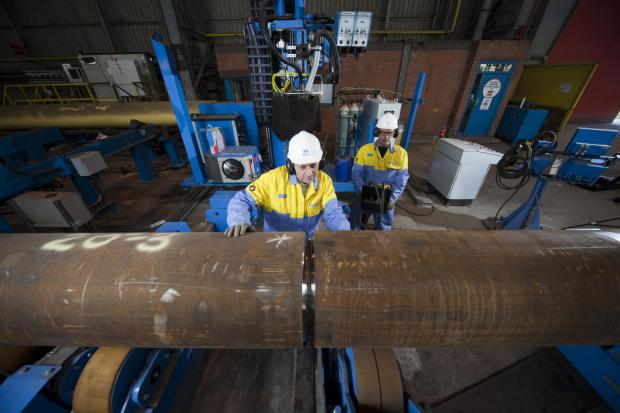 The Advertiser Series: Tata Steel's Hartlepool pipe mill. Tata's European operations chairman, Dr Karl-Ulrich Koehler, wants the Government to champion the UK's foundation industries to galvanise the UK economy outside the South-East