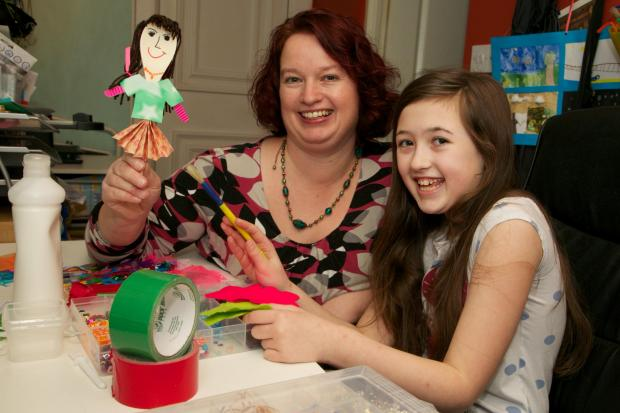 The Advertiser Series: CRAFTY BUSINESS: Ellie Lloyd, 11, with her mother, Vicky, in their craft room at their home in Darlington
