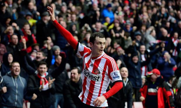 The Advertiser Series: FIGHTBACK: Adam Johnson puts Sunderland level after beating Southampton keeper Artur Boruc at his near post