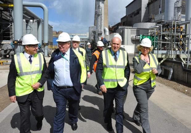 The Advertiser Series: George Ritchie, Sembcorp senior vice-president HR, second left next to Business Secretary Dr Vince Cable, has called on more firms to look at apprenticeships