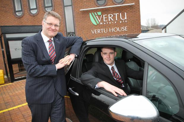 The Advertiser Series: Robert Forrester (left), chief executive of Vertu Motors PLC, with James Collingwood.