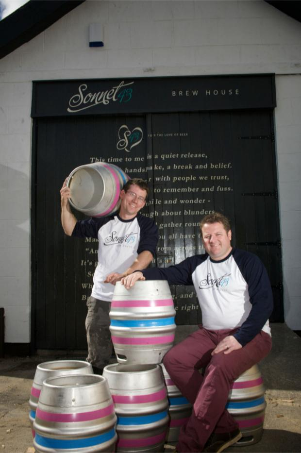 The Advertiser Series: Sonnet 43 owner Mark Hird (left) and head brewer Michael Harker