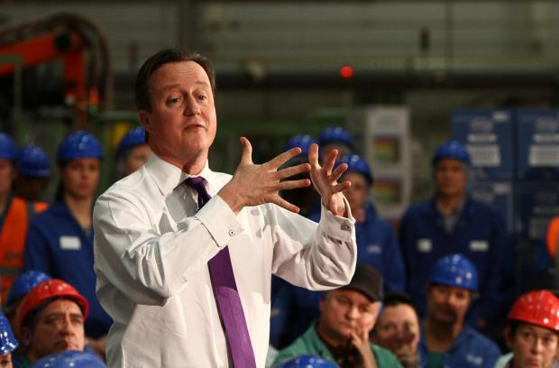 The Advertiser Series: Prime Minister David Cameron, pictured in a visit to the Tetley tea factory, in Eaglescliffe,