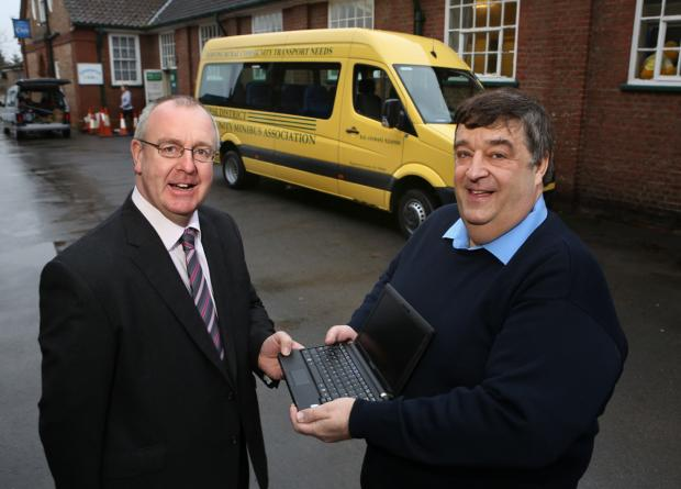 The Advertiser Series: Councillor Mark Robson with Dave Elders, secretary of Thirsk District Community Minibus Association.