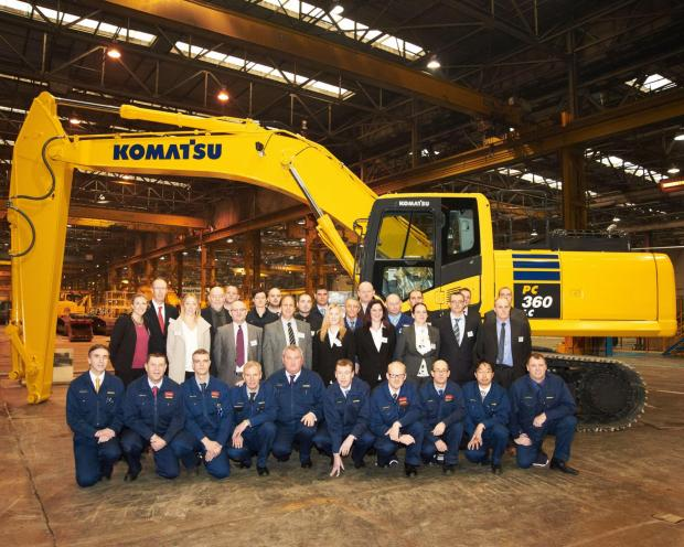 The Advertiser Series: Komatsu UK workers and supply chain representatives, who helped with the US deal