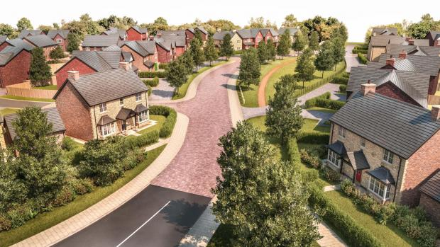 The Advertiser Series: An artist's impression of the proposed housing development near Eden Drive in Sedgefield