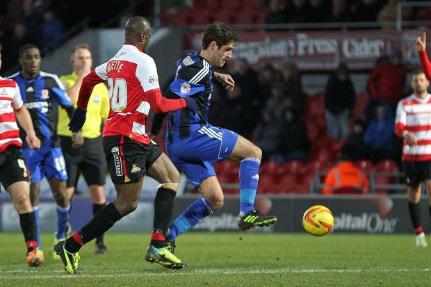 The Advertiser Series: LOAN RANGER: Danny Graham in action for Boro against Doncaster Rovers on Saturday