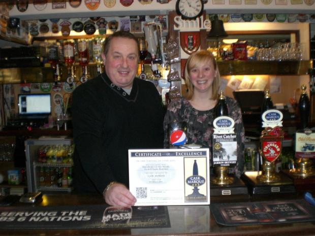 The Advertiser Series: Steve Metcalfe and Samantha Spence celebrate receiving the Cask Marque