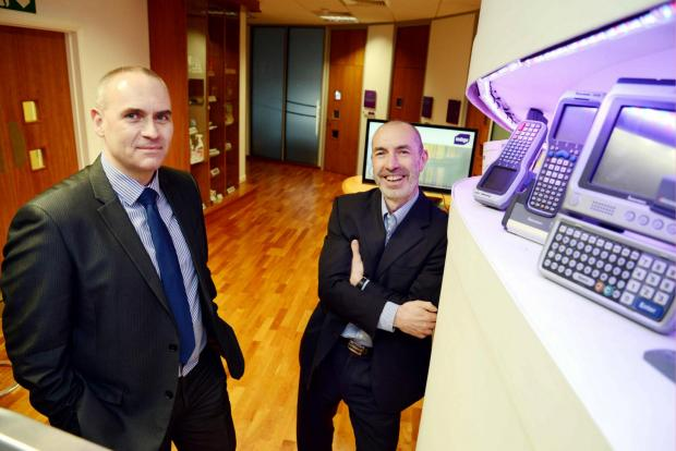 The Advertiser Series: Nic Franklin, from Lloyds Bank Commercial Banking, left, with Indigo's Bill Ginn