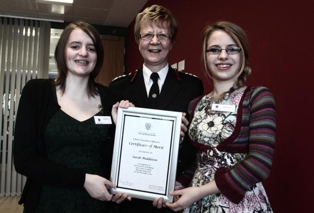 The Advertiser Series: Emily Middleton with fire chief Susan Johnson and Sarah Middleton.