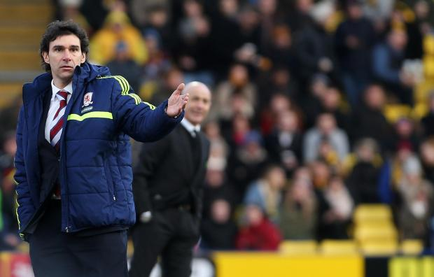 "The Advertiser Series: UNHAPPY: Aitor Karanka has accused some of his Middlesbrough players of ""thinking they are better than they are"""