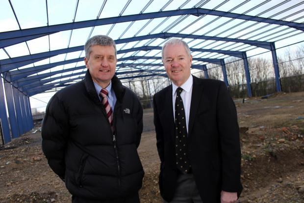 The Advertiser Series: Stiller Warehousing and Distribution managing director Paul Stiller and Andrew Winney, director and company secretary, at the firm's new facility which is currently being constructed