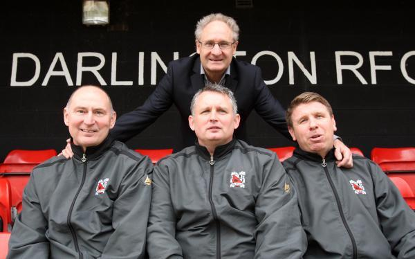 The Advertiser Series: FULL SUPPORT: Malcolm Crosby is backing his former players' attempts to aid Darlington's proposed move to Blackwell Meadows