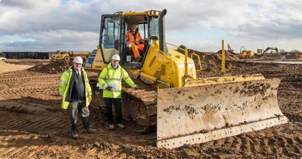 The Advertiser Series: Paul Bullimore, senior project manager, left, with Steve Waggett, Clugston's North-East regional manager, on the site of the new development