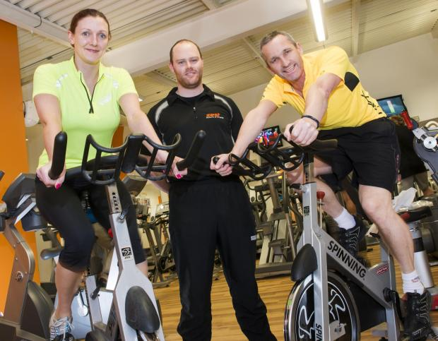 The Advertiser Series: Two of Hambleton's winners Richard Jemison and Sara Livesley-Gardin are pictured with gym instructor, Luke Brudenell