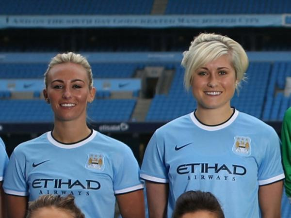 The Advertiser Series: SUNDERLAND FAN: Steph Houghton (right) might play for Manchester City's Women's team, but she will be supporting Sunderland this weekend