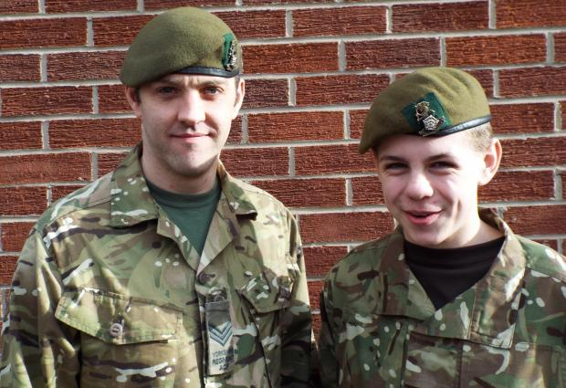 The Advertiser Series: APPEAL: Army Cadet Force volunteer Matthew Guy and cadet Euan French, of the Stokesley detachment.