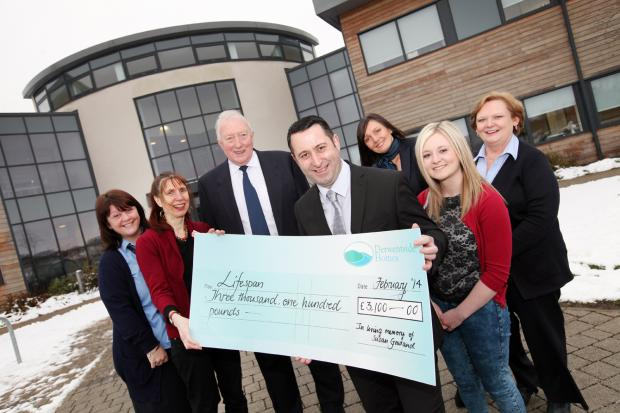 The Advertiser Series: Charity Lifespan receioves the cheque from Susan Gowland's family and colleagues