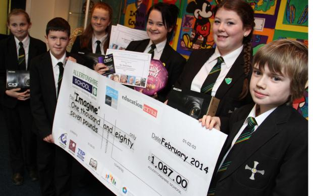 The Advertiser Series: Top class fundraisers: Allertonshire School students, L-R, Beth Wakeling, 14, Jess Ayre, 13, Harry Thompson, 11, Beth Horner, 13, Grace Cook, 13 and Joe Riordan, 11