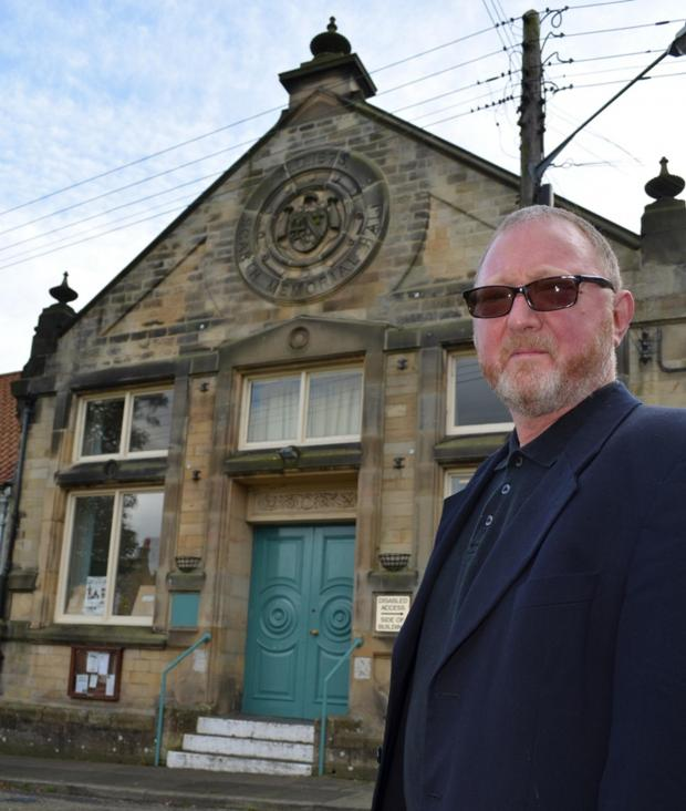 The Advertiser Series: Morris Race, chairman of the trustees of Scarth Memorial Hall in Staindrop, outside the 19th century community building in Staindrop