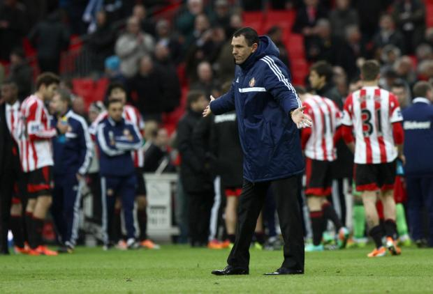 The Advertiser Series: SHRUG OF THE SHOULDERS: Sunderland boss Gus Poyet after defeat at Wembley