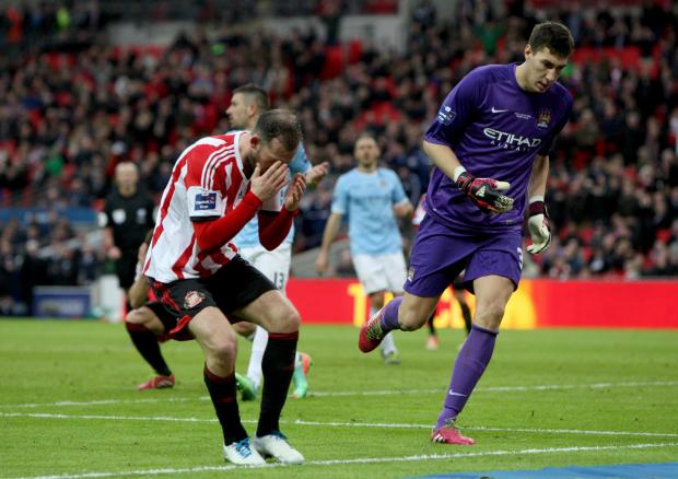 The Advertiser Series: CHANCE MISSED: Sunderland sub Steven Fletcher shows his frustration after missing a good scoring opportunity in the closing stages