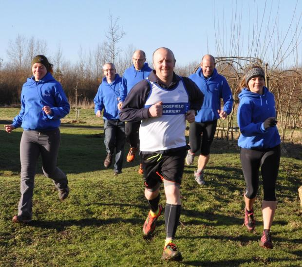 The Advertiser Series: David Sawyer in training with fellow members of Sedgefield Harriers