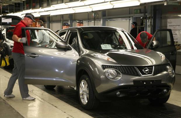 The Advertiser Series: Workers at Sunderland's Nissan plant put the finishing touches to another Juke model on the production line