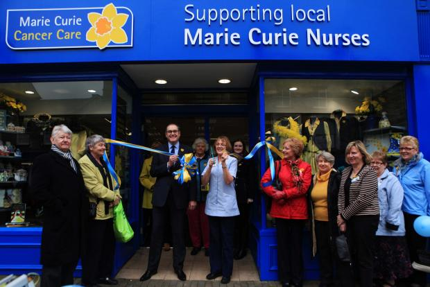 The Advertiser Series: READY TO GO: Marie Curie nurse Dawn Dyne opens the charity's shop