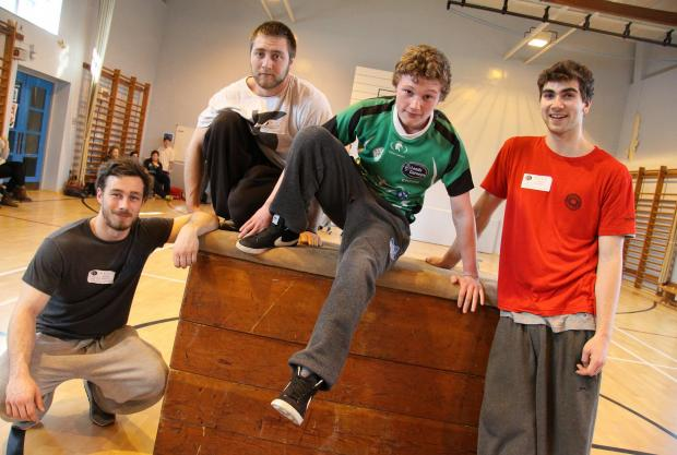 The Advertiser Series: Parkour experts Alex Winslow, Lorian Biet and Flynn Disney with Risedale Sports and Commun