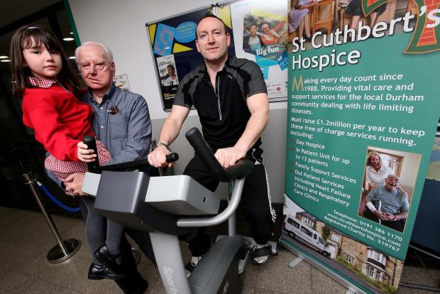 The Advertiser Series: James Hewitt takes part in the static bike ride challenge to help raise money for the