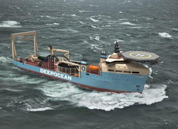 The Advertiser Series: An image of the DeepOcean cable laying vess