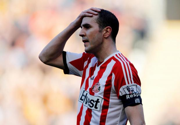 The Advertiser Series: CUP WOES: John O'Shea reacts after Sunderland lose 3-0 to Hull City in the FA Cup quarter-final last week