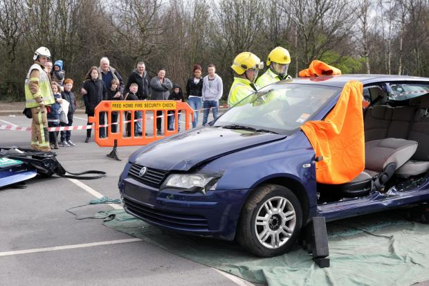 The Advertiser Series: Fire fighters demonstrate rescue techniques during a road safety roadshow in Darlington
