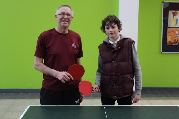 The Advertiser Series: Coach Peter Whitfield and table tennis player Niall Cowell