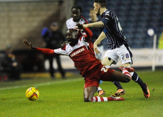 The Advertiser Series: FALLING DOWN: Boro's Albert Adomah thinks his side can still make the top six despite winning only once since mid-January