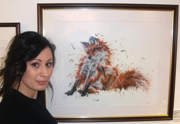 The Advertiser Series: Artist Aaminah Snowdown whose depiction of a fox has been entered for the prestigio