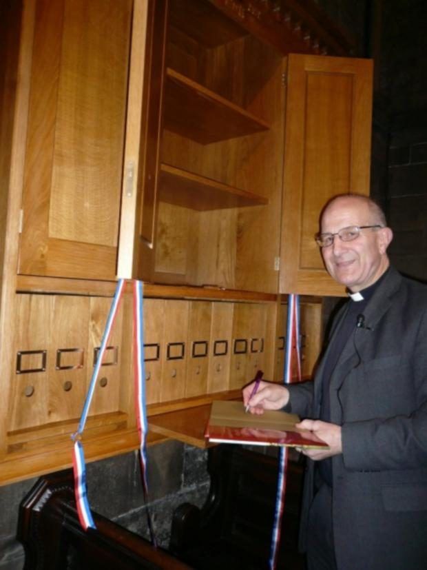 The Advertiser Series: WELL READ: The Dean of Durham, the Very Reverend Michael Sadgrove, with the new bookcase