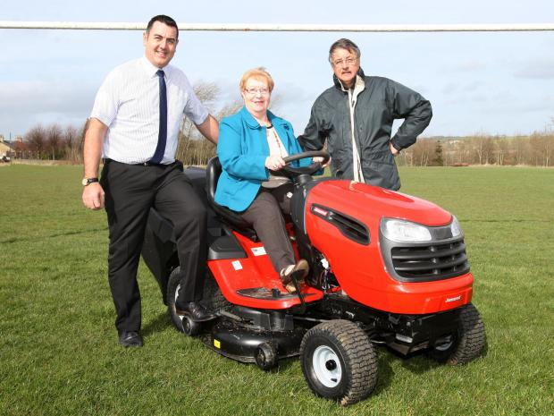 The Advertiser Series: Councillor Rob Yorke, Councillor Christine Wilson and Stan Thexton, from Witton Park FC,