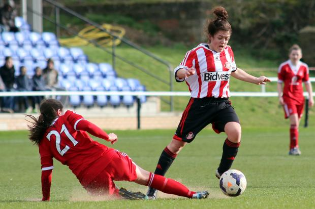 The Advertiser Series: SEASON LOOMING: Abbey Joice in action for Sunderland during pre-season preparations